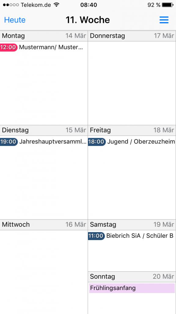 Easy Kalender