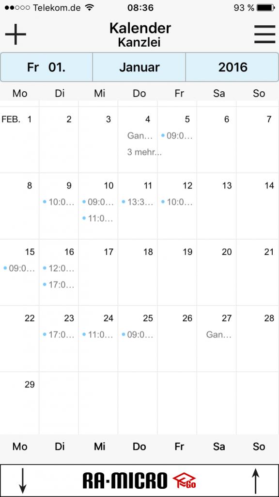 RA Micro Kalender